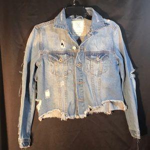 Junior (s) ripped denim jean jacket